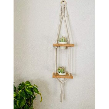 """Two-Tiered Swing Shelf with Pots, 39"""""""