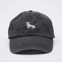 Soft Black Dachshund Logo Baseball Cap - Mookie