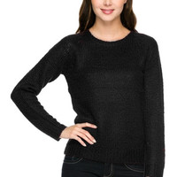 Long Sleeve Pull Over Cable Knit Sweater