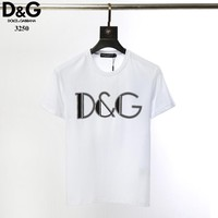 D&G Dolce & Gabbana Men Fashion T-Shirt Top Tee White