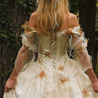 Rococo Inspired Fairy princess Corseted Ball or Alternative Wedding Gown - Eurudike