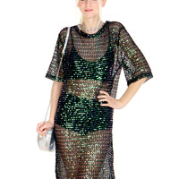 SHEER MAGIC SEQUIN DRESS