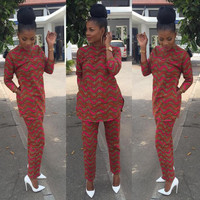 African Clothing - Dashiki Buba Set - Dashiki Print Pants and Top