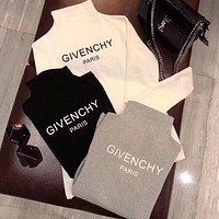 Givenchy Women Scoop Neck Long Sleeve Pullover Top-1
