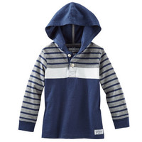 Colorblock Striped Jersey Pullover