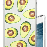 iPhone 6S Case Avocado Guac Guacamole Food Foodie Funny Fruit Clear Translucent Transparent Unique Design Pattern Cover For iPhone 6S also fits iPhone 6