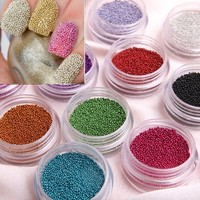 Leegoal Fashion Caviar Nails Art New 12 Colors plastic Beads Manicures or Pedicures Nail Art