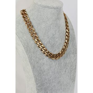 Thick Curb Chain Necklace