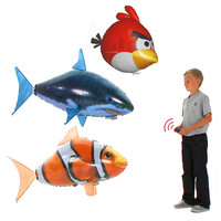New Arrival RC Remote Control Air Flying Fish Shark Angry bird Inflatable Toy