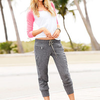 French Terry Cropped Moto Pant - Victoria's Secret
