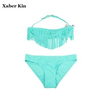 8-16 Years Girls Large Size Swimsuit Children Girls Solid Swimwear Summer Bathing Suits For Kids Girls Swimsuit SW620-CGR1