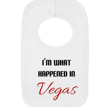 I'm What Happened In Vegas Funny Parody Conception Baby Pullover Bib