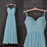Blue Cheap Bridesmaid Dresses, Simple Prom Dress,Party Dresses,Evening Dresses,Wedding Party Dresses