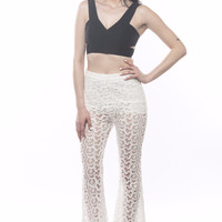 Wilder Mind 50's Lace Flare Pants