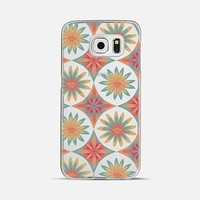 HAPPY FLOWERS - CRYSTAL CLEAR PHONE CASE - Samsung Galaxy S6 (Transparent)
