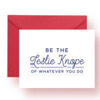 Be The Leslie Knope Card