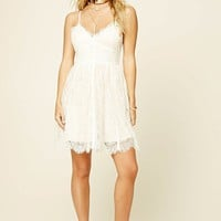 A.Peach Eyelash Lace Cami Dress