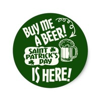 St Patricks Day Drink Solicitations Classic Round Sticker