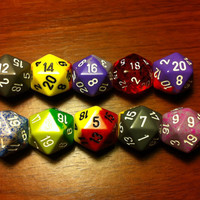 20 Sided Dice  Assorted by LuckyTrinkets on Etsy