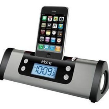 iHome iP16 Portable Alarm Clock Speaker System for your iPhone / iPod