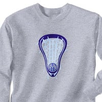 Lacrosse T-Shirt Long Sleeve Lax Life with Monogram | Lacrosse Long Sleeve T-Shirts | Lacrosse Long Sleeve Tees | Lacrosse Apparel | Long Sleeve T-Shirts for Lacrosse Players