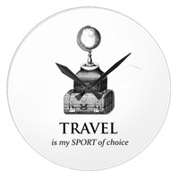 Travel is my Sport Vinatge Globe Wall Clock