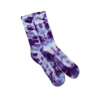 Nike Dri-Fit Tie Dye Purple White Socks