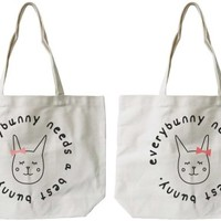 Best Bunny BFF Canvas Bags - 365 Printing Inc
