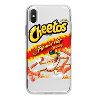 CLEAR HOT CHEETOS CUSTOM IPHONE CASE