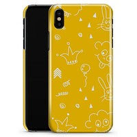 Bright Yellow Jester hat with Balloons - iPhone X Clipit Case