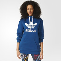 """Adidas"" Women Clover Letter Print Long Sleeve Sportswear Hooded Sweater Tops"