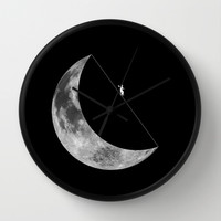 Moon walker Wall Clock by Tony Vazquez