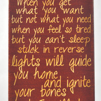 Try and Fix you, Cold Play lyrics.Canvas Art wall decor, for Home, Office, Dorm, Bedroom, Kids Room wall art