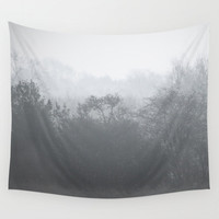 Tree tapestry, grey tapestry, tree art, photo tapestry, large wall hanging, black and white decor, grey decor, oversized art, nature decor