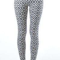 Plus Size Ankle Hypnotic Diamond Leggings
