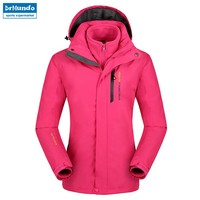 Plus Size snowboard jacket women waterproof snow jackets female Thermal ski jacket Fleece Mountain hiking ski jacket Big yards