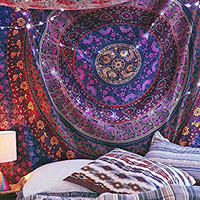 Lali Prints Hippie Tapestry Indian Dorm Decor, Psychedelic Tapestry, Wall Hanging Hippy Mandala Bohemian Tapestries
