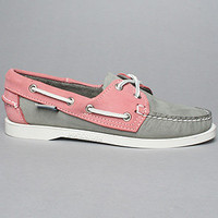 The Spinnaker Shoe in Gray and Pink
