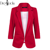 2016 Autumn Winter Fashion candy color women blazer slim solid coat female jackets plus size blazers no buckle Clothing haoduoyi