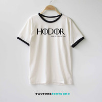 Hodor Shirt Game of Thornes Shirt TShirt T-Shirt T Shirt Tee