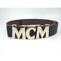 MCM unisex business casual letter buckle trend belt