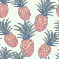 Low Poly Pineapples Removable Wallpaper
