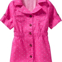 Flannel-Twill Shirtdresses for Baby