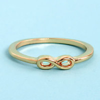 Perpetually Pretty Gold Infinity Ring