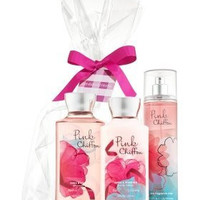 Bath & Body Works Pink Chiffon Gift Set - All New Daily Trion (Full-Sizes)