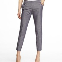 CHAMBRAY COLUMNIST ANKLE PANT