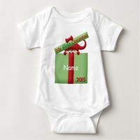 "Cute ""First Christmas Monogram"" BABY BODYSUIT"