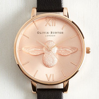Menswear Inspired Bee There in a Minute Watch in Rose by Olivia Burton from ModCloth