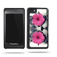 Hipster Cat Funny Pink Flower Eyes Blackberry Z10 Case - For Blackberry Z10