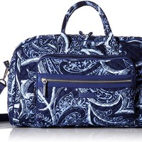 Iconic Compact Weekender Travel Bag, Signature Cotton